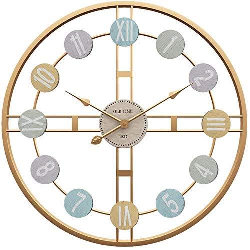 Grote woonkamer wandklok mute creatieve thuis minimalistische sfeer horloges persoonlijkheid trend van de kunst hangen tafel 50cm,Gold