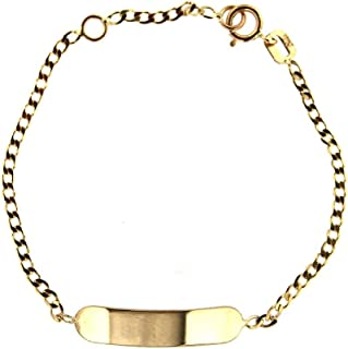Amalia 18K Yellow Gold red Enamel Racing car id Bracelet 5.6 inches with Extra Ring 4.75 inches