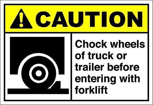 HNNT aluminium metalen bord voor muur decor 12x16 INCHES Gepersonaliseerde metalen borden voor buitenshuis Chock wielen van vrachtwagen of oplegger voor voorzichtigheid OSHA/ANSI Aluminium METAL teken