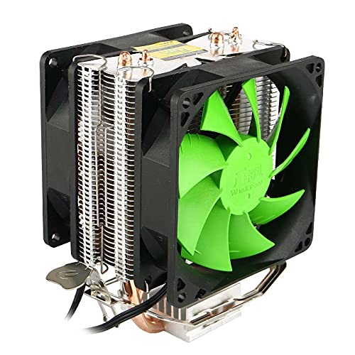 Nuevo caliente silencioso doble ventilador CPU refrigerador para Intel LGA775/1156 AMD AM2/AM3/AM4 Ryzen