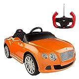 rastar- Coche de batería Bentley Continental GTde 6V-2.4G, Color Naranja (ColorBaby 85252)