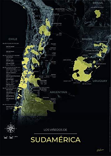 GeoVINUM mapa de vino de Burdeos en soporte rígido