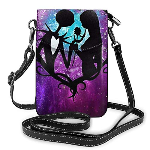 Hdadwy Womens Crossbody Bags - Jack And Sally Nightmare Before Christmas Small Cell Phone Purse Wallet With Credit Card Slots