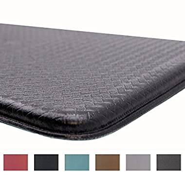 Rochelle Collection Premium Anti-Fatigue Comfort Mat. Multi-Purpose Decorative Non-Slip Standing Mat for the Kitchen, Bathroom, Laundry Room or Office. By Home Fashion Designs Brand (Cloudburst Grey)