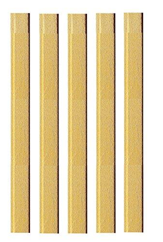 5x Krepppapier/Bastel Deko Krepp / 50x150cm / gold