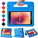 BMOUO Kids Case for Samsung Galaxy Tab A 8.0 2017 SM-T385 / T380 - Light Weight Shockproof Protective Handle Stand Kids Case Cover for Samsung Galaxy Tab A 8.0 inch 2017 T380 T385 Tablet - Blue
