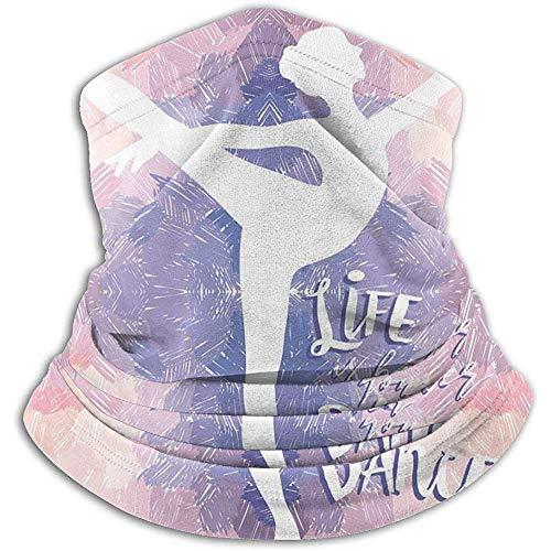 Halswarmer Het leven is beter, als je winddichte multifunctionele halswarmers dansen. Lichte halsmanchetwarmer voor volwassenen halsbandana's strehnba