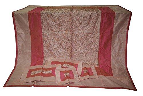 silkroude Ethnic Home Dekorative Vintage Seide Tagesdecke Rajasthani Brokat Seide Bettlaken