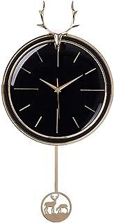 PPCP Ultra-Quiet Quartz Clock, Living Room Bedroom Kitchen Home Decor Wall Clock, European Wall Clock, 32x63cm (Color : B)