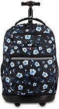 J World New York Sundance Laptop Rolling Backpack, Night Bloom, One Size