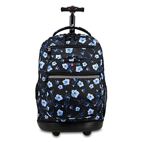 J World New York Sundance Laptop Rolling Backpack, Night Bloom, One Size