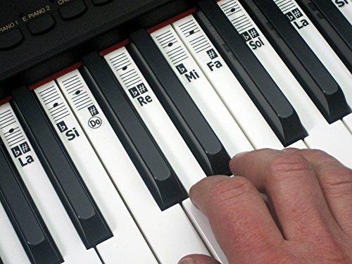 KEYNOTES Do-Re-Mi-Aufkleber für Piano und Musik Tastatur