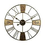 AMYZ Reloj de Pared Industrial Vintage de 24 Pulgadas,decoración rústica de Reloj de Pared de...