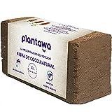 PLANTAWA Fibra de Coco 10L, Bloque de Sustrato de Coco, Fibra de Coco Natural, Tierra para Plantas Uso Huerto Urbano Terrario Plantas Exterior Turba para macetas