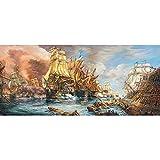 HUIFA Pintura Al Óleo - Batalla Naval - Rompecabezas 600 Piezas De Juguete For Adultos Apto For Niños Y Adultos Mayores De 14 Años (Color : 600 pc, Size : 68 * 30cm)