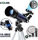 ESSLNB Telescopio Astronomico Bambini con Treppiede Regolabile e Adattatore Telefonico 70m...
