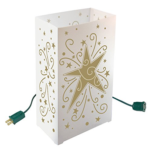 Lumabase Festive Lighting Decorative Electric Luminaria Kit Star 10 Count