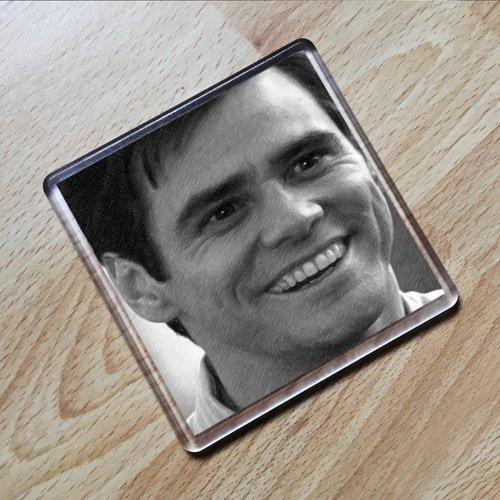 JIM CARREY - Original Art Coaster #js001