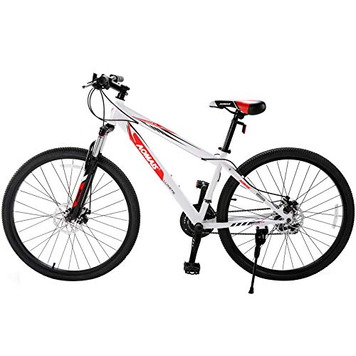 Murtisol Mountain Bike 27.5 inches Hybrid Bicycle with Suspension Fork,21 Speed,Dual Disc Brake,Grey Orange/Black