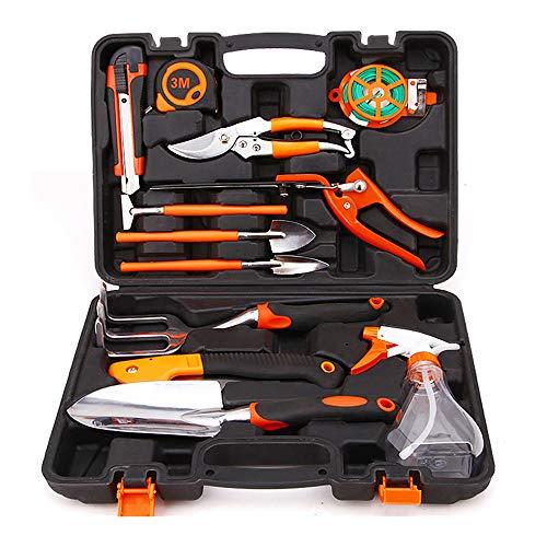 Yajun Household Garden Tool Kits Aluminum Alloy Shovel Pruning Sets Branch Cutter Rake Indoor and Outdoor Hand Planting Kit 12PCS