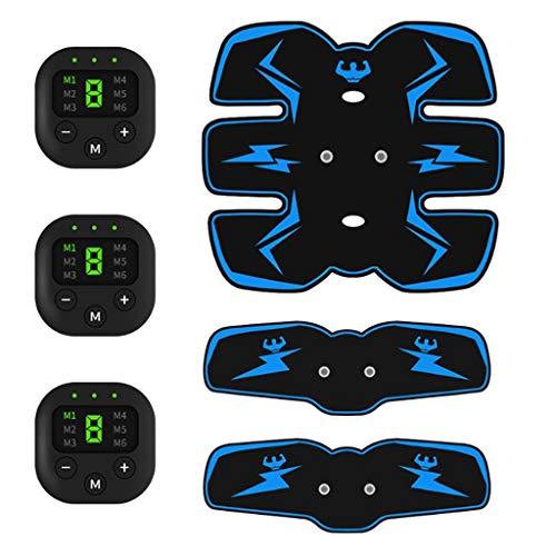 F Fityle Electroestimulador Muscular Abdominales, USB Recargable Entrenamiento de Músculo Masajeador Eléctrico...