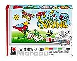 Marabu 0406000000127 Window Color fun & fancy Set Spring Time - Pintura a base de agua...