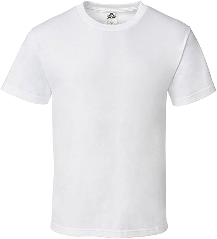 Wanna Be J Alstyle Men's Classic Cotton Crew Neck Short Sleeve Pre Shrunk TShirt