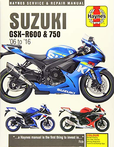 Suzuki GSX-R600 & 750 (06 - 16) (Haynes Service and Repair Manual)