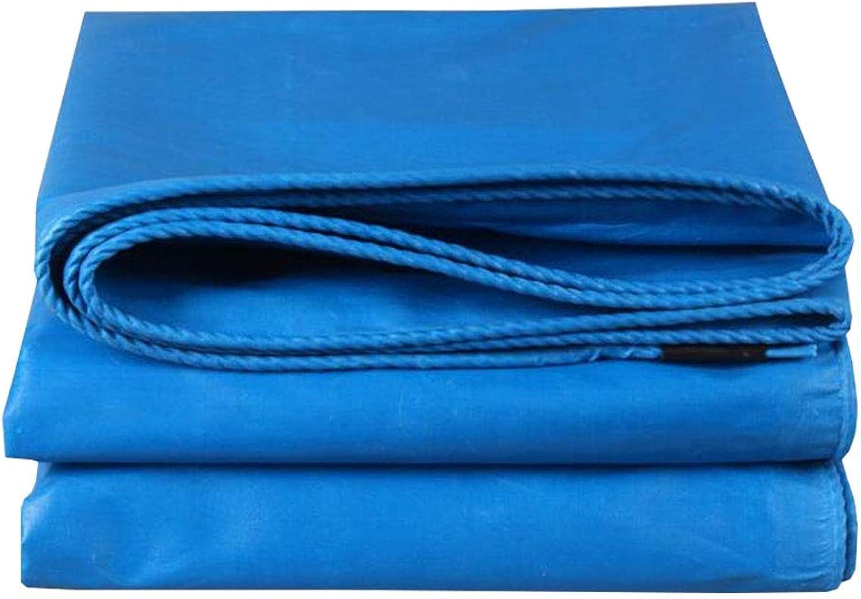 YX-Planen Starke Plane Blau Schutzplane Premium Quality Cover für Outdoor-Camping - 100% wasserdicht und UV-geschützt - Dicke 0,4 mm, 480 g m2