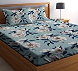 Material: Microfiber, Thread Count: 182 Care Instructions: Machine wash in normal water, Do not Bleach, Do not Tumble dry, Hang dry, Iron if needed Color: Multicolour, Size Name: Double Bed Package Contents: 1 Premium Double Size Bedsheet and 2 Pillo...