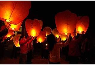 Alrens_DIY(TM) 10 Red Heart Sky Lanterns Chinese Wish Lanterns Flying Paper for Wedding Festival Christmas Party Lanterns