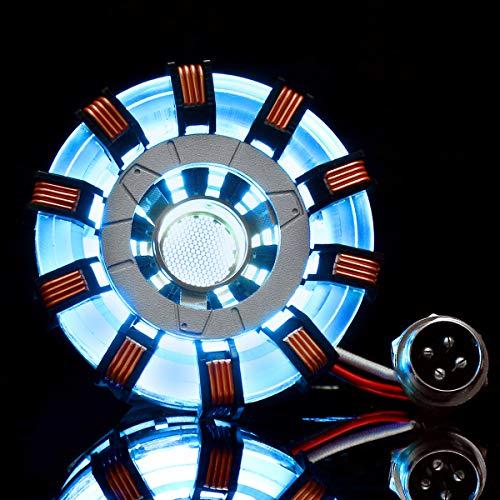 Niceen MK2 Acrílico Tony ARC Reactor Modelo DIY Kit USB Lámpara de pecho Accesorios de Película Iluminante LED Flash Set Regalo