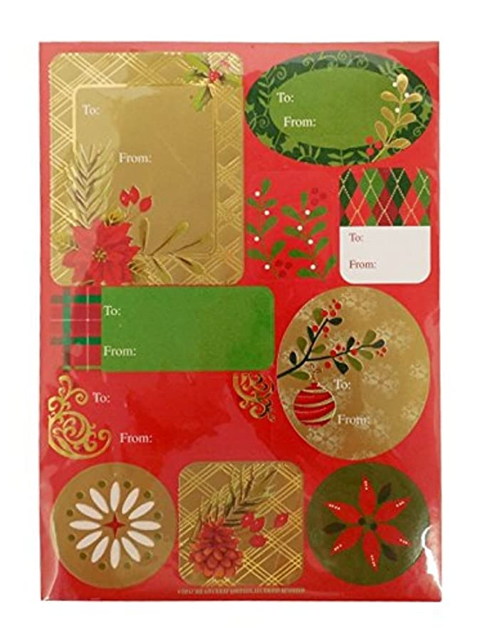 The Gift Wrap Company Self-Adhesive Holiday Label Sheets, Traditional Sentiments