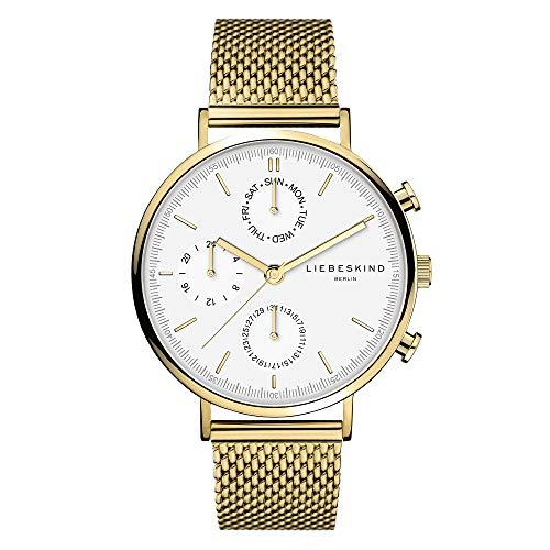 Liebeskind Berlin Damen Multi Zifferblatt Quarz Uhr mit Edelstahl Armband LT-0192-MM