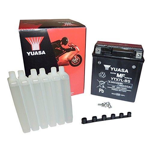 YUASA BATTERIE YTX7L-BS AGM aperto con imballaggio acido
