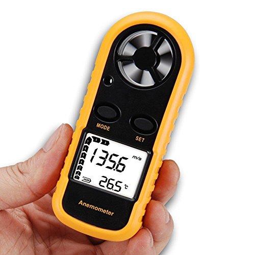 RGBS風速計デジタル高精度LEDスクリーン温度計センサー搭載室外作業現場漁業農業屋内空調工具スポーツ適用風力計省エネ軽量アネモメーター風量計電源自動切平均値表示可能