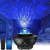 LED Sternenhimmel Projektor Galaxy Light - Starry Projector Light mit Wasserwellen, Bluetooth-Lautsprecher Funktion, Galaxy Projektor für Kinder Erwachsene Geschenke