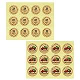 UPKOCH 480 Stücke Kraftpapier Geschenkaufkleber Selbstklebend Weihnachtsaufkleber Weihnachtssticker Adventskalender Aufkleber Weihnachten Etiketten Sticker für Geschenktüten