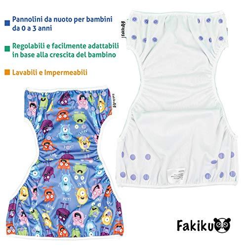 Fakiku Bañador Pañal Antifugas para Bebés y Niños talla 0-36 meses, Bañador para Piscinas Ajustable y Lavable, Trajes de baño Reutilizables Para Niños Pañales Lavables Natación Set de Mar para Niñas