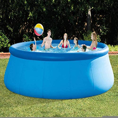 YF-SURINA Piscina hinchable de verano Piscina sobre el suelo Piscina familiar Piscina infantil Piscina redonda gruesa,Azul,549 * 122 cm