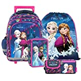 Frozen Eiskönigin Schulrucksack Schultasche Tasche Rucksack Set 4 Teilig Inklusive Sticker Von Kids4shop Federmappe Turnbeutel Trolley Trolly