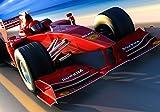 wandmotiv24 Fototapete Ferrari Formel 1 XL 350 x 245 cm - 7 Teile Fototapeten, Wandbild, Motivtapeten, Vlies-Tapeten Autorennen, rennwagen M0376