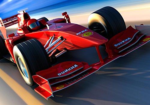 wandmotiv24 Fototapete Ferrari Formel 1 XXL 400 x 280 cm - 8 Teile Fototapeten, Wandbild, Motivtapeten, Vlies-Tapeten Autorennen, rennwagen M0376