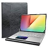 Alapmk Protective Case for 15.6' Asus VivoBook S15 S532FA/VivoBook 15 F512DA F512FA X512FA/ASUS Q547FD Q537FD/ZenBook Flip 15 Q538EI Q528EH & Lenovo IdeaPad Slim 7 GTX/IdeaPad Slim 7 15IIL05,Black
