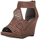 Michael Antonio Women's Kammi Wedge Sandal, Cognac, 10 W US
