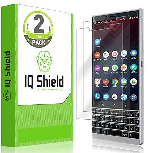 IQ Shield Screen Protector Compatible with BlackBerry KEY2 (BBF100-2)(2-Pack)(Full Coverage) LiquidSkin Anti-Bubble Clear Film