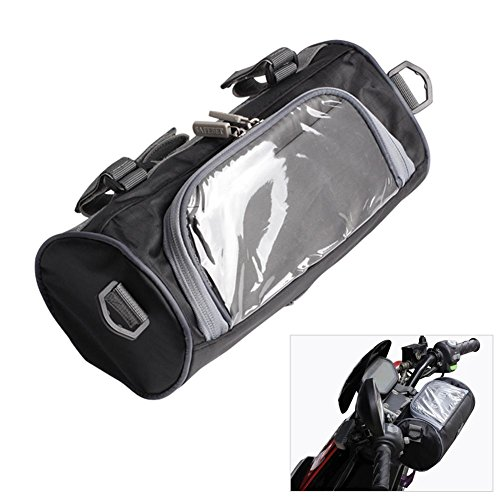 Per Newly Waterproof Motorcycle Handlebar Bag Tool Bag Luggage Carry Bag Storage Tank Bag Helmet Bag Saddle Bag Storage Tool Pouch Roll Barrel Bag for Harley Honda Yamaha Kawasaki Cruisers