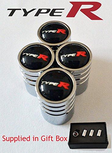 Schwarz 4 St/ück Civic Typ-R Accord Integra S2000 NSX Raceed Deluxe Ventil-Staubkappen