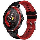 HAOQIN Montre Connectée Sport Watch - Homme Femme Cadeau Smartwatch GPS Chronomètre Podomètre Cardiofrequencemètre Moniteur de Sommeil Etanche IP68 Fitness Tracker Compatible Android iOS (Noir)