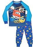 Super Wings Pijama para Niños Jett y Donnie Ajuste Ceñido Multicolor 2-3 Años